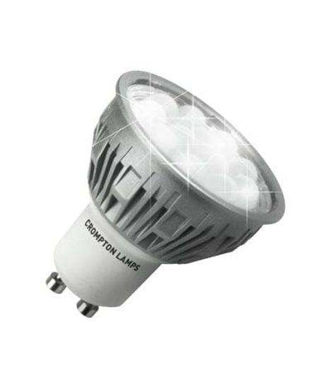 GU10 bulb with silver body