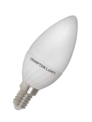 Candle shaped LED bulb SES cap