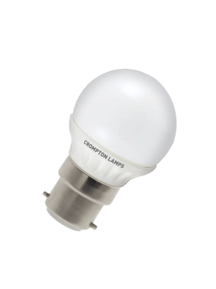 Picture of Crompton LED Round Lamp 4W BC Opal Warm White LRBC4WW