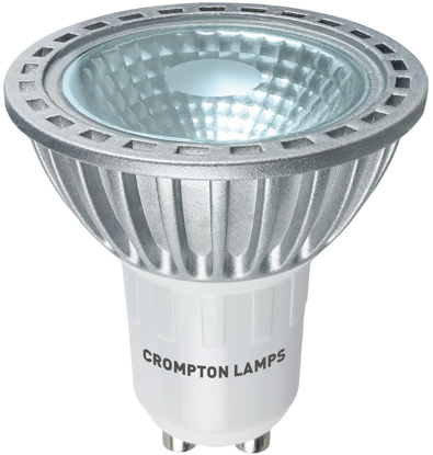 LED GU10 bulb with glass front