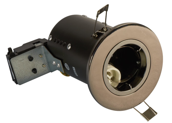 Picture of GU10 Downlight Fire Rated in Black Chrome FGFBCDC