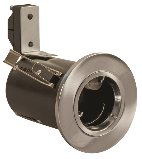 Picture of GU10 Downlight Fire Rated in Satin Chrome FGFSDC