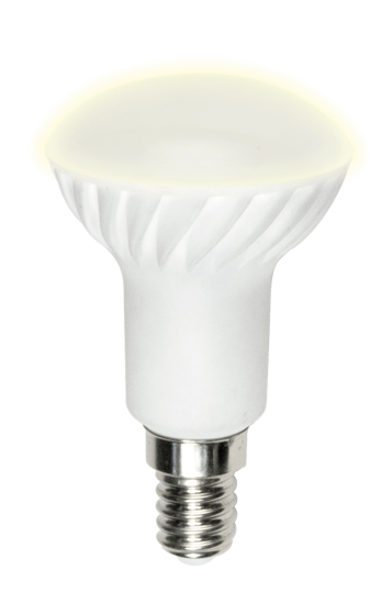 White reflector bulb with screw cap