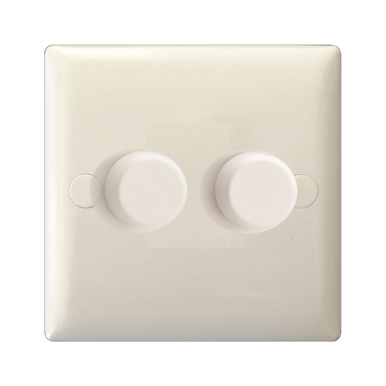 Picture of Varilight V-Pro 2 Gang 2-Way Dimmer in White JOP252WP