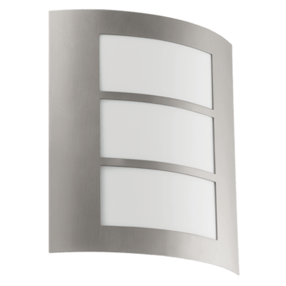 Outdoor wall light with stainless steel body