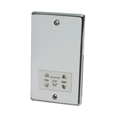 Picture of Dual Voltage Shaver Socket in Chrome 240/110V SY9660CC