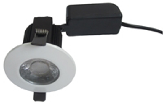 Picture of Fire Rated 10W COB LED Downlight Dimmable White bezel FRLED10WD-50