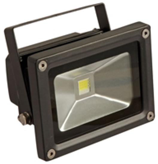 Black LED floodlight for outdoor lighting