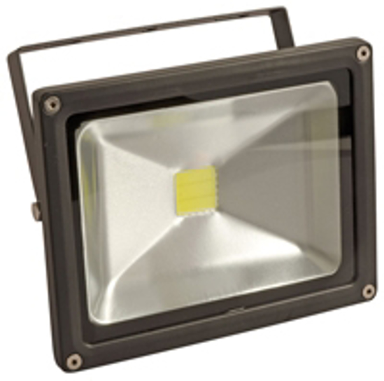 Black outdoor LED floodlight