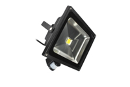 Picture of 50W PIR LED Floodlight 3100K LEDFLE50BPIR-31