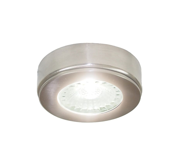 Picture of Polaris LED Recessed/Surface Cabinet Light Brushed Nickel SY7551ABN/NW