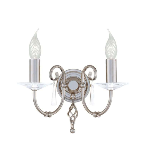 Picture of Elstead Aegean 2Lt Wall Light in Polished Nickel AG2 PN