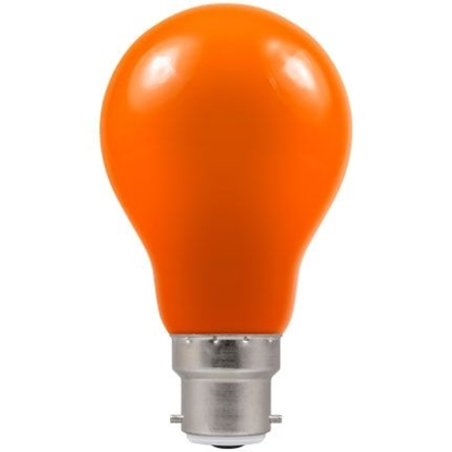 Picture of LED Coloured GLS Amber BC or ES