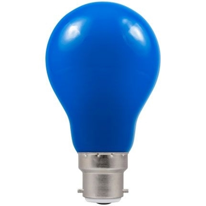 Picture of LED Coloured GLS Blue BC or ES