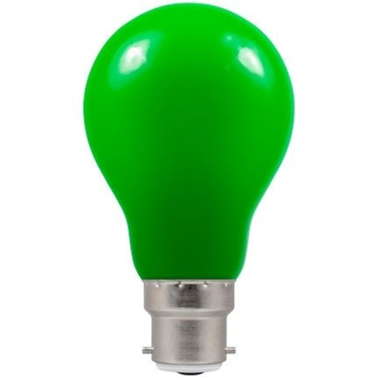 Picture of LED Coloured GLS Green BC or ES