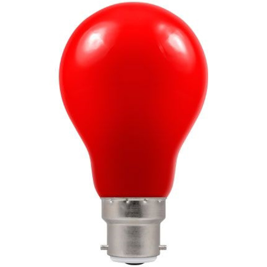 Picture of LED Coloured GLS Red BC or ES