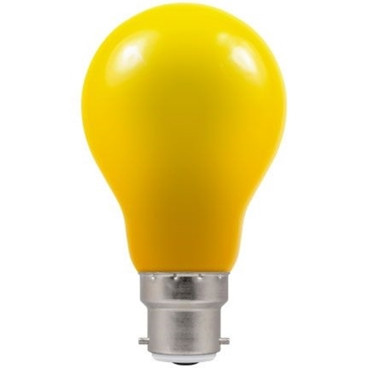 Picture of LED Coloured GLS Yellow BC or ES