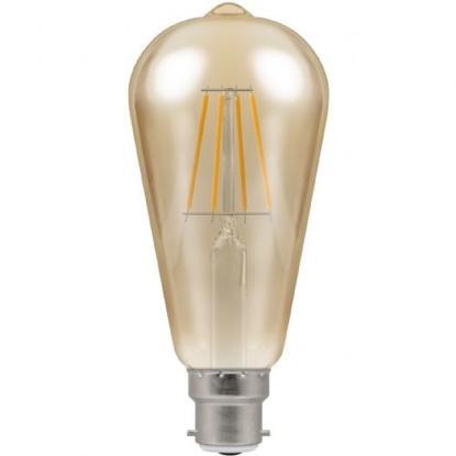 Picture of LED Filament Lamp ST64 Dimmable 5W BC or ES