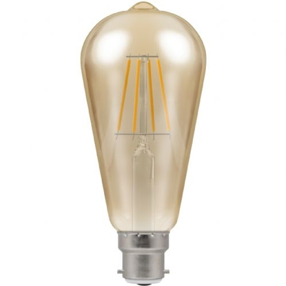 Picture of LED Filament Lamp ST64 Dimmable 7.5W BC or ES