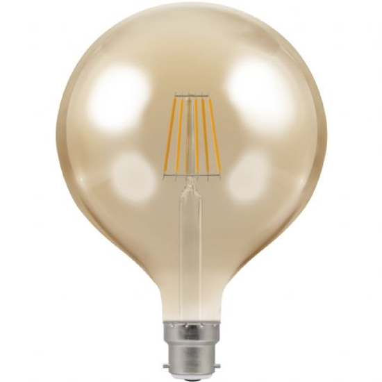 Picture of LED Filament Lamp G125 Dimmable 7.5W BC 4306