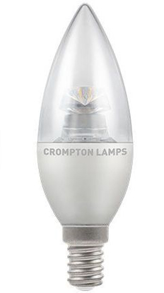 Picture of LED Clear Candle 6.5w Dimmable SES Cap 4603