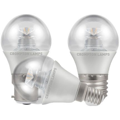 Picture of LED Clear Round Bulb 6.5w Dimmable BC, ES or SES Cap