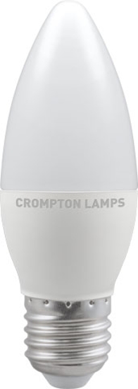 Candle shaped bulb with screw cap
