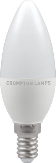 Candle shaped bulb with small screw cap