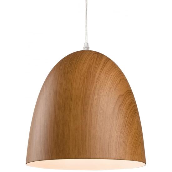 Oak effect pendant light