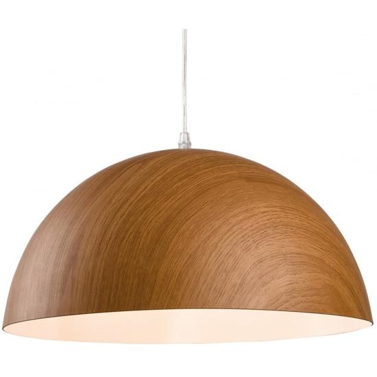 Large oak effect pendant light