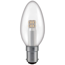Clear candle shaped bulb