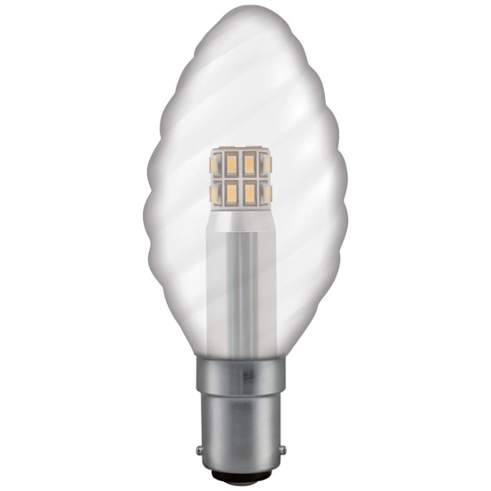 Picture of Twisted Candle Clear 3w SBC-B15 Cap LTC3CSBCWW