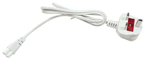1 metre mains cable with a UK plug attached