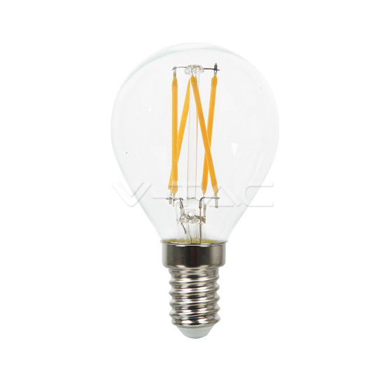 Picture of LED Filament Round Bulb 4W SES V-TAC 43001