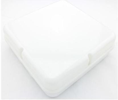 Picture of Empty Body Square Discus Bulkhead White Base