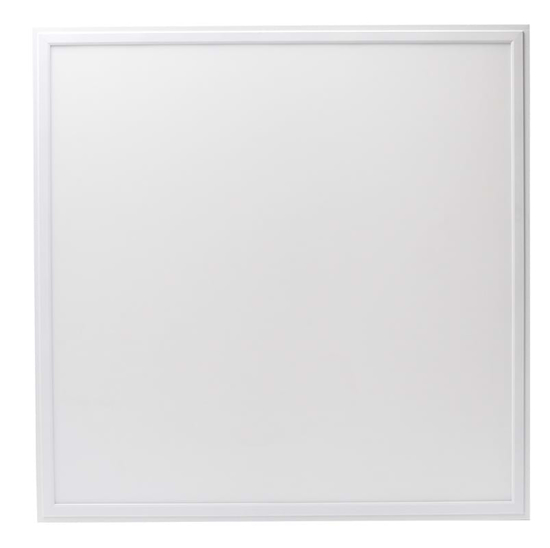 Square white recessed LED panel
