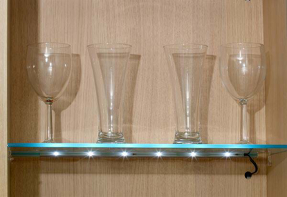 Picture of 450mm Individual LED Clip On For Glass Shelf Warm White SY9984WW