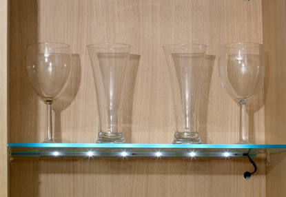 Picture of Warm White Clip on LED for Glass Shelf 2 Light Kit SY9996WW