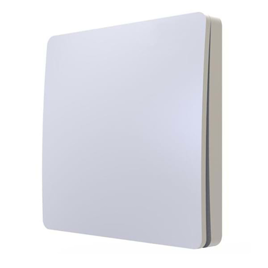Contemporary white plate 1 gang kinetic wall switch