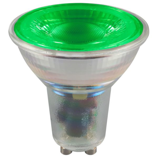 Picture of LED GU10 Coloured Glass 4.5W Green 9462