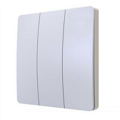 3 gang white plate wall switch