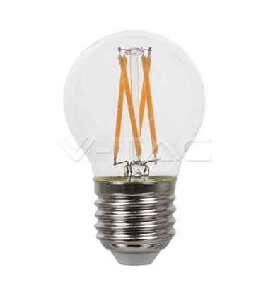 Picture of LED Filament Round Bulb 4W ES V-TAC 43061
