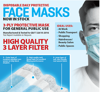 Picture of 3-Ply Protective Disposable Face Masks - Free Shipping