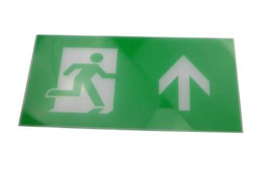 Running man up legend for exit sign
