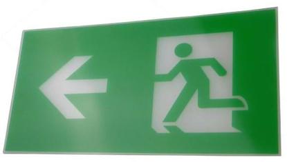 Running man left legend for exit sign