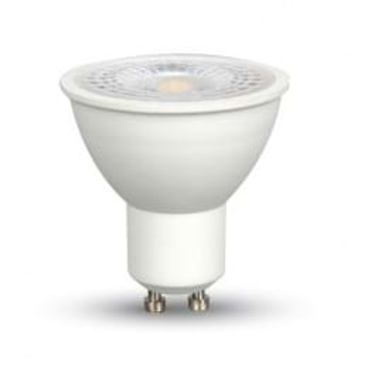 White plastic LED bulb