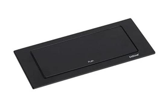Black rectangular socket